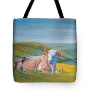 Cow Lying Down Tote Bag