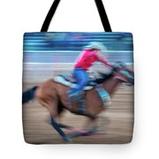 Cowgirl Rides Fast For Best Time Tote Bag