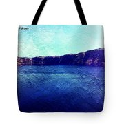 Crater Lake As A Painting Tote Bag