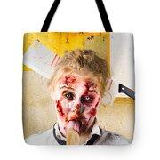 Crazy Sick Monster Eating Gmo Food Tote Bag