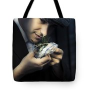 Criminal With Weeds And Green Grass Tote Bag