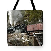Crossing The High Bridge Tote Bag
