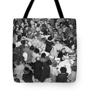 Crowds In Ohrbach's Store Tote Bag