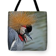 Crowned Crane Tote Bag by Skip Willits