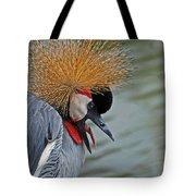 Crowned Crane Tote Bag by Skip Willits