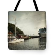 Cruise Ship At Port, Kingstown, Saint Tote Bag
