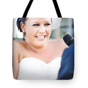 Crying And Laughing Bride Tote Bag