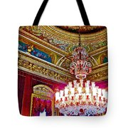 Crystal Chandelier In Dolmabache Palace In Istanbul-turkey  Tote Bag