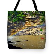 Cumberland Falls Rainbow Tote Bag by Frozen in Time Fine Art Photography
