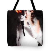 Cupid Angel Of Romance Setting Hearts On Fire Tote Bag