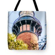 Currituck Beach Lighthouse On The Outer Banks Of North Carolina Tote Bag
