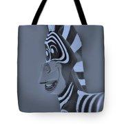 Cyan Zebra Tote Bag
