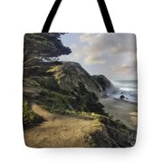 Cypress Path Impasto Tote Bag