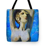 Cyprus Map And Aphrodite Tote Bag
