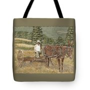 Dad And Molly Tote Bag