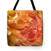 Dahlia Named Misty Explosion Tote Bag