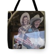 Dale Evans Roy Rogers Cardboard Cut-outs Flag Reflection Helldorado Days Tombstone 2004 Tote Bag