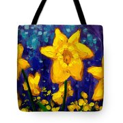Dancing Daffodils Cropped  Tote Bag
