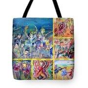 Dancing Friends Tote Bag