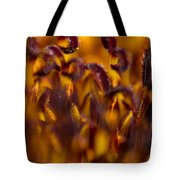 Bordeaux Red Stamens Tote Bag