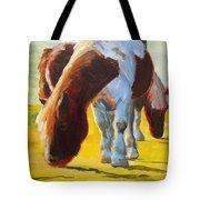 Dartmoor Ponies Painting Tote Bag