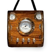 Dashboard In A Classic Wooden Boat Tote Bag