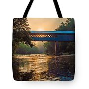 Dawn At Swann Bridge Tote Bag