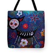 Day Of The Dead Chihuahua Tote Bag