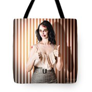 Dead Set Business Woman Ready With Thumbs Up Tote Bag