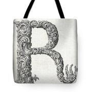 Decorative Letter Type R 1650 Tote Bag