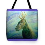 Deer At Home Tote Bag