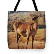 Deer On Mountain  Tote Bag