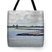 Delaware Breakwater East End Lighthouse Tote Bag