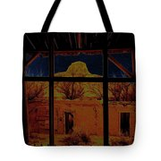 Desert Trail Homage 1936 Cabezon Peak Ghost Town Cabezon New Mexico 1971 Tote Bag