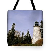 Dice Head Lighthouse Tote Bag