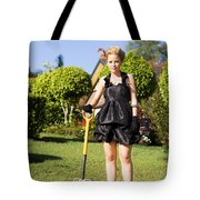 Do It Yourself Gardening Lady Tote Bag