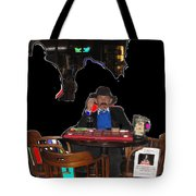 Doc Holliday Teaching Faro Crystal Palace Saloon Tombstone Arizona 2004  Tote Bag