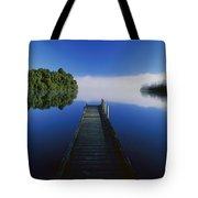Dock On Lake Mapourika Tote Bag
