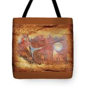 Dodge In Rust Tote Bag