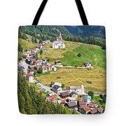 Dolomiti - Laste Village Tote Bag