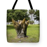 Dolphin Tree In Melbourne Beach Florida Tote Bag