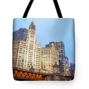Downtown Chicago View Tote Bag
