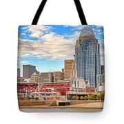 Downtown Cincinnati Pano1 Tote Bag