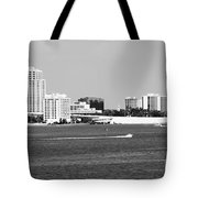 Downtown Clearwater Skyline Tote Bag
