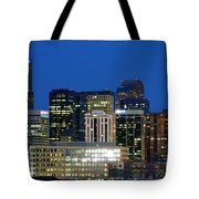 Downtown Denver At Dusk Tote Bag