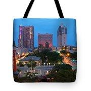 Downtown San Antonio Texas Skyline Tote Bag