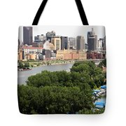 Downtown Skyline Aerial Of St. Paul Minnesota Tote Bag