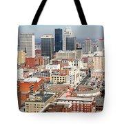 Downtown Skyline Of Louisville Kentucky Tote Bag