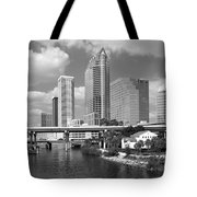 Downtown Tampa Skyline From Davis Islands Tote Bag