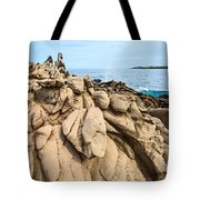 Dramatic Lava Rock Formation Called The Dragon's Teeth In Maui. Tote Bag